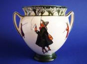 Early Royal Doulton Isaac Walton Ware 'Gallant Fishers' Trophy Vase D2312 c1910